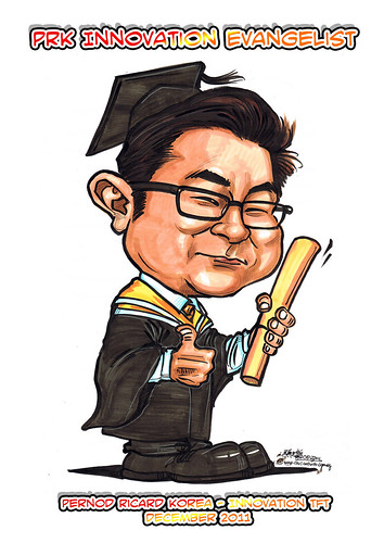 Caricature for Pernod Ricard Korea - Hyunbok