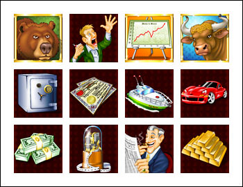free Bulls and Bears slot game symbols
