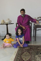 My Grand Kids Seek The Blessings of Mr Rajesh Khanna My Mentor by firoze shakir photographerno1