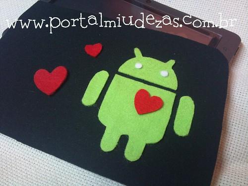 Case Amo Meu Android by miudezas_miudezas