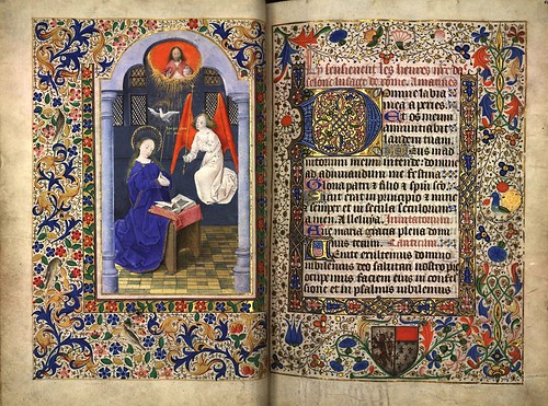 005-La Anunciacion-folio 40 verso-Heures d'Isabeau de Roubaix- Bibliothèque numérique de Roubaix  MS 6