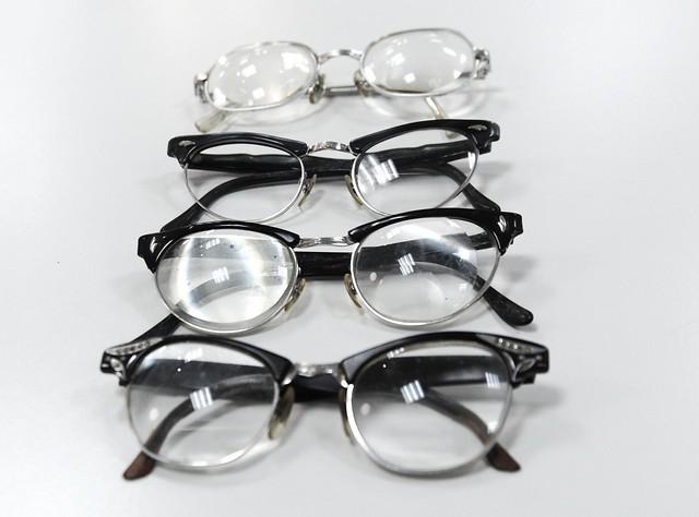 Eyeglass Frames Donations : Evidence of life: 1950s eye glasses, 4 pair, thick lens ...