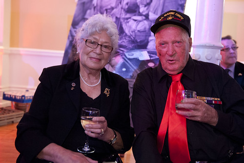 Veteran Wayne Harter with author Joan Ellis.