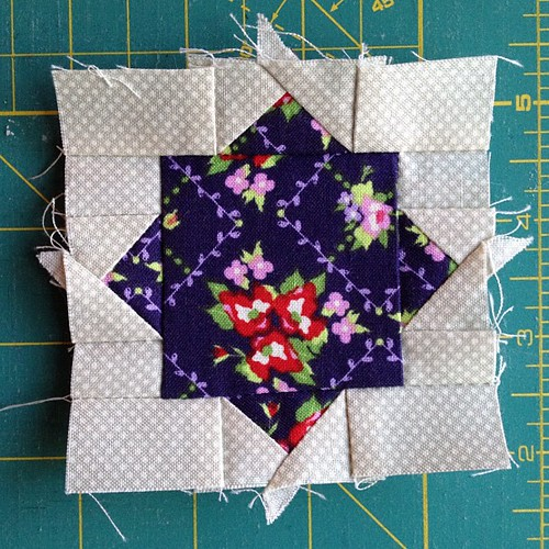 1 teeny block :) looking forward to finishing!