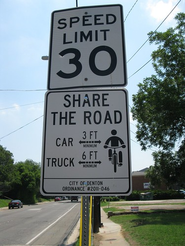 "Texas ""Share the Road"" sign"