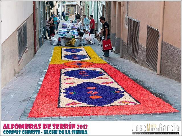 Alfombras de serr n elche de la sierra 2012 alfombras for Alfombras pena