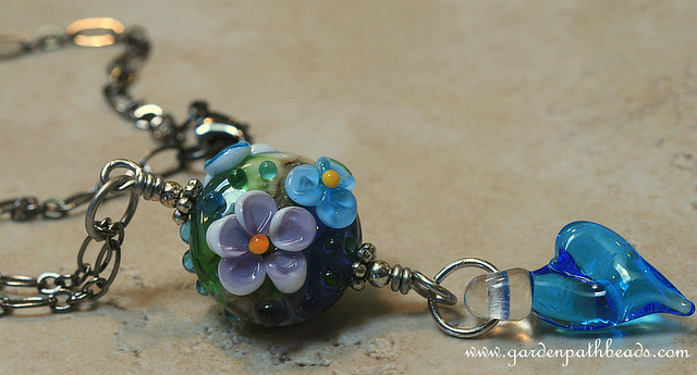 Summer Love- Lampwork Necklace