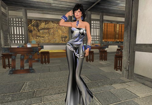 House of Beningborough ~ BB Adorn Me - Opal leaves Mesh Dress -trimmed- (only for members) by Cherokeeh Asteria