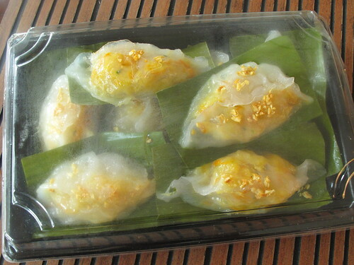 Steamed vegetable dumplings (Chai Kueh) 菜粿