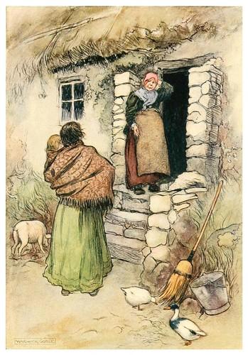 012-Una llamada a la señora Margarita-Irish ways-1909-ilustraciones de Warwick Goble
