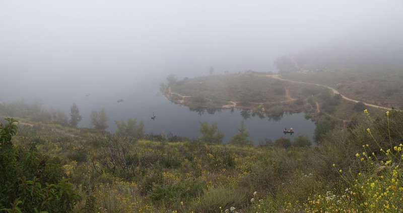 Near-White-Out Conditions on Lake Poway