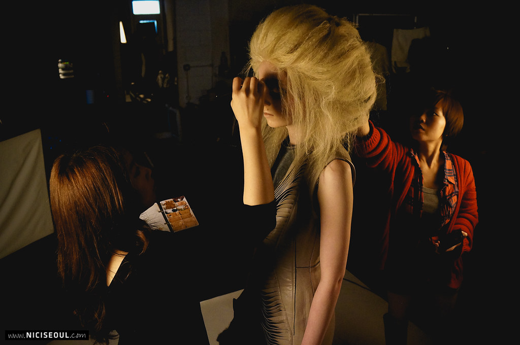 Backstage with Chanie for Papercut