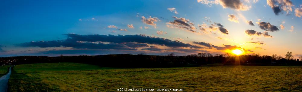 Day 09 - 120409 sunset Shamona Creek es Panoramic 02