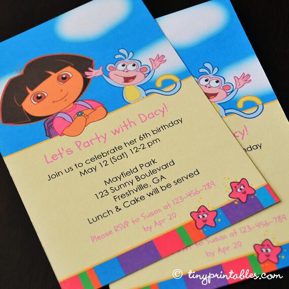 Image Result For Dora Explorer Printable