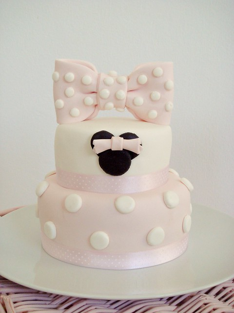 Minnie mouse cake for my daughter's second birthday :)