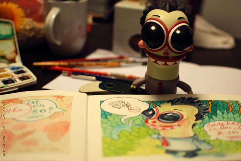 Eddy and my 365 sketchbook