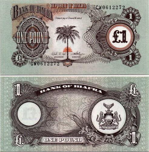 1 Libra Biafra 1968-69, Pick 5a