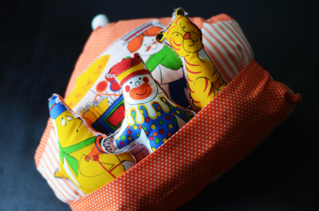 Vintage Circus Pillow and Toys