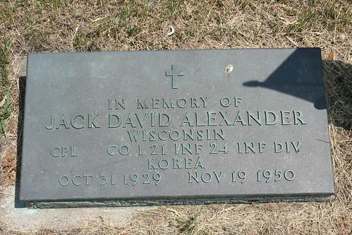 Jack David Alexander Memorial