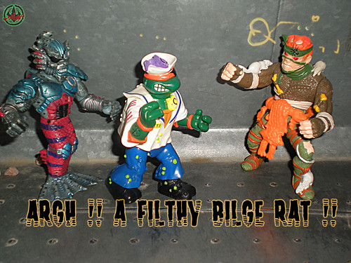 Mutant Military  TEENAGE MUTANT NINJA TURTLES ::  MIDSHIPMAN MIKE xviii / ..with MERDUDE & The Rat King (( 1991 ))
