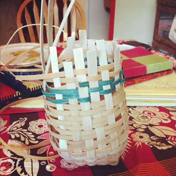 Our leaning tower of #basketry.