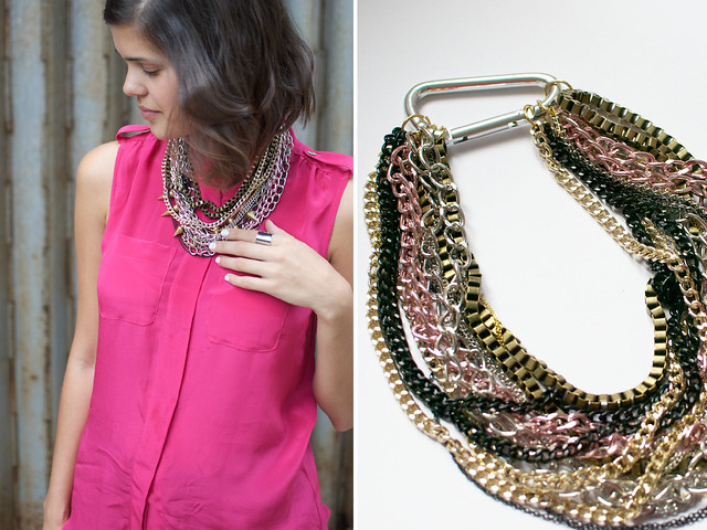 diy multi chain necklace