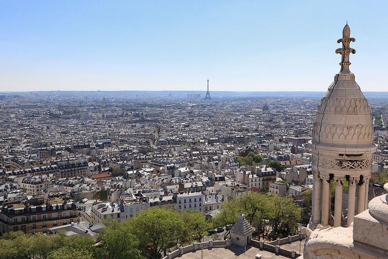 Looking over Paris from Montmartre