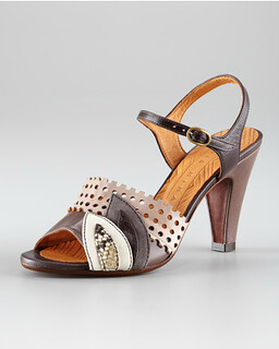 Chie Mihara Three-Tone Sandal NM Retail $380 on sale for $254