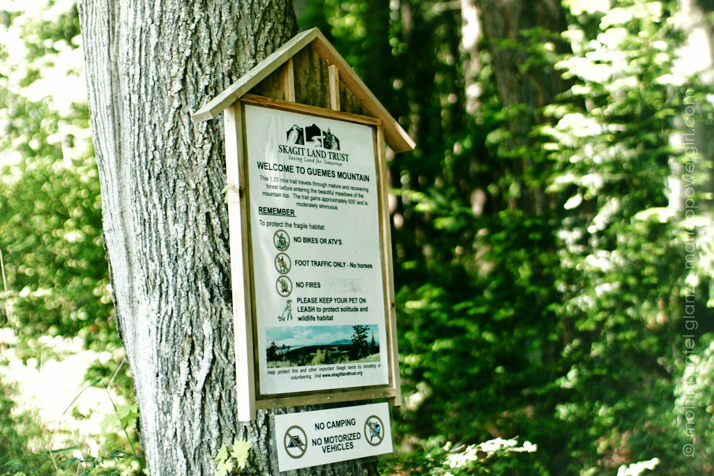 guemes mountain trail sign
