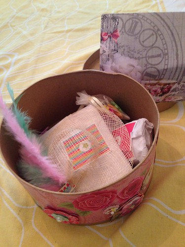 prettily wrapped items inside
