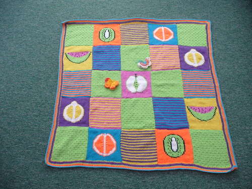 Look at the fruit on this Blanket! Makes your mouth water! Thank you very much Joyce!