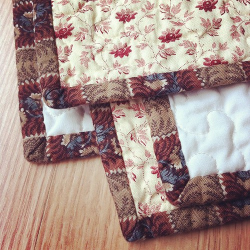 Binding corners On A Whim quilt