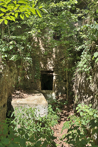 Ruins at Welsh Spring, on the Current River, Missouri