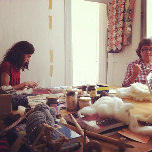ensinar a lã