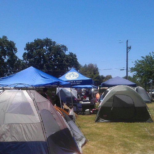 Brewers camp site at California Mid-State Fairgrounds for Firestone Walker Invitational Beer Fest