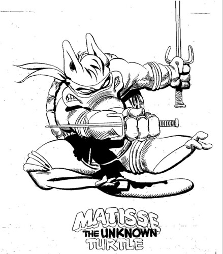 "Dave Sim's CEREBUS/TURTLE Sketches i // ""MATISSE THE UNKNOWN TURTLE"" (( 2012 ))"