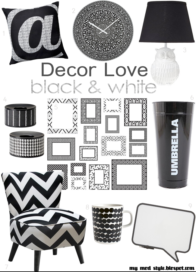 DECOR LOVE Black & White June 2012