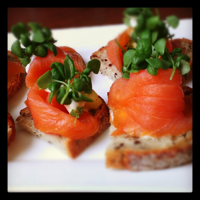 Smoked salmon crostini | Flickr - Photo Sharing!