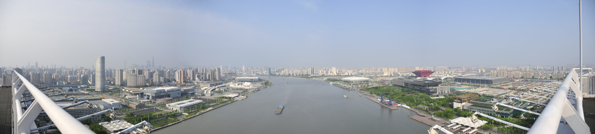 Panoramic view east from Lupu Bridge.