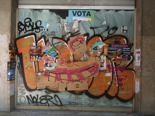 VOTA (assemblage with cardboard)