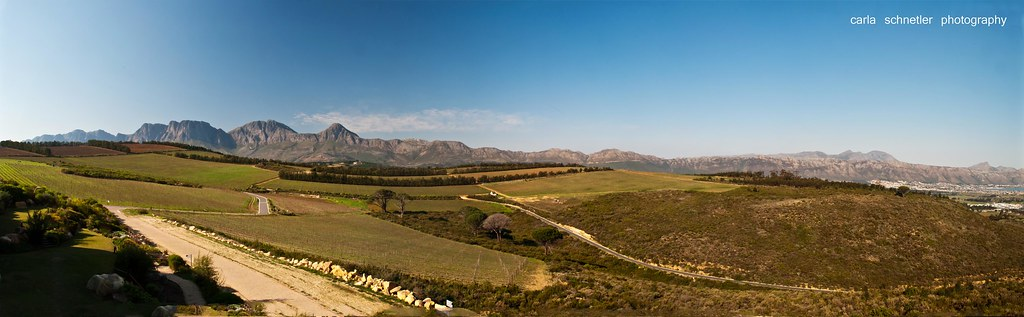 View from Waterkloof Wines, Somerset West