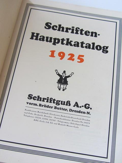 Schriftguss A.-G. vorm. Brüder Butter Dresden N.