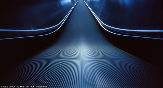Escalator | pinhole camera
