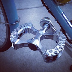 New MKS Pedals for Angel's Bike