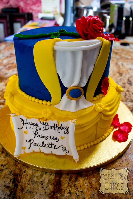 beauty and the beast birthday cake and the beast birthday cake two tier and 1619