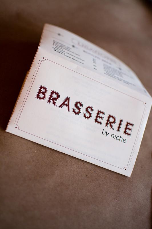 menu at Brasserie Niche
