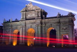 Imagem de Puerta de Alcalá. madrid españa night atardecer arquitectura nocturna urbana bluehour comunidaddemadrid horaazul