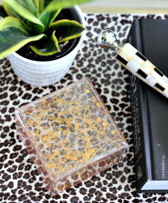 Hi Sugarplum | DIY Gold Splatter Box