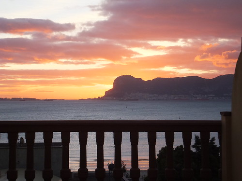 silhouette sunrise golden march spain espana gibraltar hotelmirador