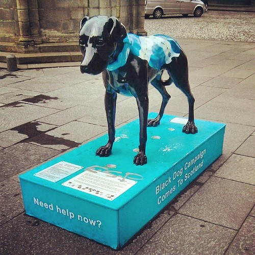 Black dog campaign in Edinburgh- bringing mental health problems out in the open. No more stigma